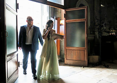 Entering the Church for the Wedding - Lucca, Italy (TravelsWithDan) Tags: couple backlit wedding church europe italy tuscany lucca city urban candid streetphotography streetportrait canong3x