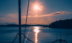 Stockholm Archipelago Sunset (Niles Herman) Tags: sea archipelago sunset scenic view beautyinnature summer stockholm reflections water sky nopeople evening home shadows