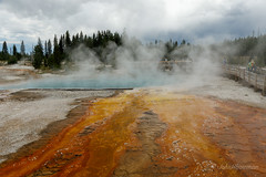 Yellowstone Thermal Pool (John H Bowman) Tags: wyoming tetoncounty parks nationalparks yellowstonenp westthumbgeyserbasin thermalpools overcast july2019 july 2019 canon24704l explore