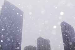 Lookup (aerojad) Tags: eos canon 80d dslr 2019 autumn outdoors city urban chicago snow snowing snowkeh cityscape citylife cityview theloop bokeh