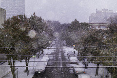 No Traffic From Up Here (aerojad) Tags: eos canon 80d dslr 2019 autumn outdoors city urban chicago snow snowing snowkeh cityscape citylife cityview edgewater bokeh