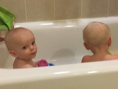 """Luc and Sam in the Bath • <a style=""""font-size:0.8em;"""" href=""""http://www.flickr.com/photos/109120354@N07/49052487496/"""" target=""""_blank"""">View on Flickr</a>"""