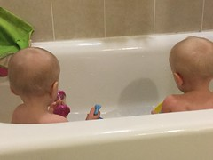 """Luc and Sam in the Bath • <a style=""""font-size:0.8em;"""" href=""""http://www.flickr.com/photos/109120354@N07/49052487571/"""" target=""""_blank"""">View on Flickr</a>"""