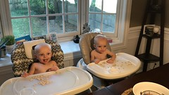 """Luc and Sam Eat Cheerios • <a style=""""font-size:0.8em;"""" href=""""http://www.flickr.com/photos/109120354@N07/49052510791/"""" target=""""_blank"""">View on Flickr</a>"""