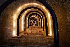 untitled (ChrisRSouthland (mostly off, traveling & working)) Tags: ricohgriii light color tunnel interior malta