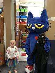 "Paul and Dani with Pete the Cat • <a style=""font-size:0.8em;"" href=""http://www.flickr.com/photos/109120354@N07/49052646257/"" target=""_blank"">View on Flickr</a>"