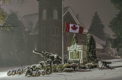 11 11 (Paul B0udreau) Tags: wah werehere cenotaph beamsville lincoln snow nikkor50mm18 photoshop canada ontario paulboudreauphotography niagara d5100 nikon nikond5100 raw layer tripod flag wreaths cannon war memorial remembranceday