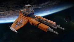 Boss 302 Viper (ABS Shipyards) Tags: lego vic viper starship starfighter space scifi novvember ldd render boss 302