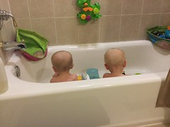 """Luc and Sam in the Bath • <a style=""""font-size:0.8em;"""" href=""""http://www.flickr.com/photos/109120354@N07/49052701577/"""" target=""""_blank"""">View on Flickr</a>"""