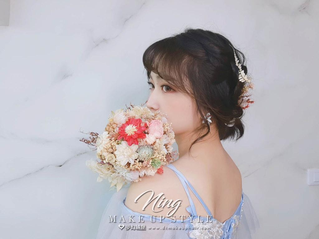 【新秘羽寧】新娘造型創作 / 短髮-仙女造型