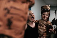 RAWR! (_Codename_) Tags: henry halloween 2018 orange dinosaur trex tyrannosaurusrex jurassicpark costume cosplay toddler baby cecilia mirror roar