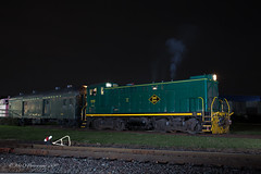 SLRS Baldwin DS4-4-750 #102 @ Morrisville, PA (Darryl Rule's Photography) Tags: 102 2019 amtrak baldwin blueridgewoodproducts buckscounty ds44750 diesel diesels fairlesshills fall freight freightcar freighttrain freighttrains lines morrisville night nightphotos november pa pennwarnerindustrialpark pennsylvania railroad railroads slrs sms storage train trains