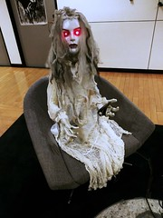 "Halloween Animatronic ""My Beloved"" lady (ok2la) Tags: halloween animatronic prop witch ghoul figure decoration"