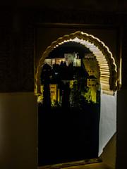 Alhambra 1 (deepaqua) Tags: alhambra spain window night granada