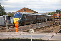 Wait Your Turn..... (marcus.45111) Tags: exeterstdavids greatwesternrailway 802114 networkrail 1c78 3j13 1l52 levelcrossing passenger freight ukrailways speedlimit 2019 rhtt