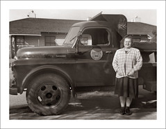 Fashion 0516-31 (Steve Given) Tags: familyhistory socialhistory fashion lady woman truck dodge