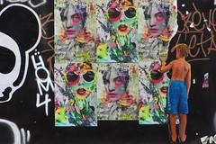 L'enfance de l'art urbain (Edgard.V) Tags: paris parigi street art urban urbano arte callejero mural graffiti child criança bambino portrait retrato ritratto portraiture pop