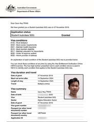 TRAN-Quoc-Huy_ECU_201911 (duhoc.unilink) Tags: ecu ecc visa