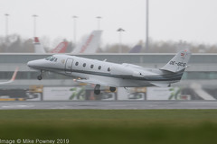 OE-GCG - 2003 build Cessna 560XL Citation Excel, departing from Runway 23R at Manchester in the pouring rain (egcc) Tags: 5605316 bizjet ce560xl cessna cessna560xl citation dcwww egcc excel gdk goldeckflug lightroom man manchester oegcg ringway