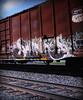(timetomakethepasta) Tags: sworne sworn ones freight train graffiti art union pacific boxcar