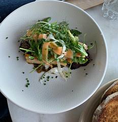 2019 Sydney: Potato Gratin (dominotic) Tags: 2019 food garçoncafe iphonexsmax foodphotography yᑌᗰᗰy tramshedsharoldpark potatogratin potato ham cheese grilledchorizo caramelisedonion sydney australia