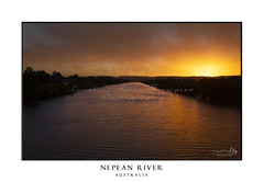 Scenic views of Nepean River Penrith in pretty sunset colours (sugarbellaleah) Tags: sunset river penrith water nepeanriver colour vivid vibrant orange yellow mountains silhouette red flowing landscape scenery rural countryside australia beauty awe striking amazing wonderful visit place travel tourism backgrounds