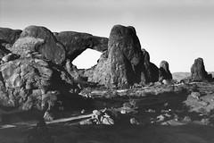 The Windows (wetmorew) Tags: ecopro analog 35mm canon1v phototherm p30 film western bw landscape utah sandstone arches moab filmferrania p30alpha
