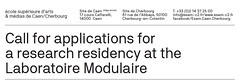 #Recherche / Labo modulaire / Appel candidature (esamCaenCherbourg) Tags: esamrecherche esamcaencherbourg esamrechercheresidence esamlabmodulaire esamappeldoffre