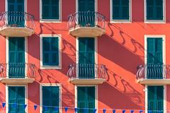 Still walking in their shades (.KiLTЯo.) Tags: italy it kiltro sanmicheledipagana liguria italia architecture color colour balcony window facade