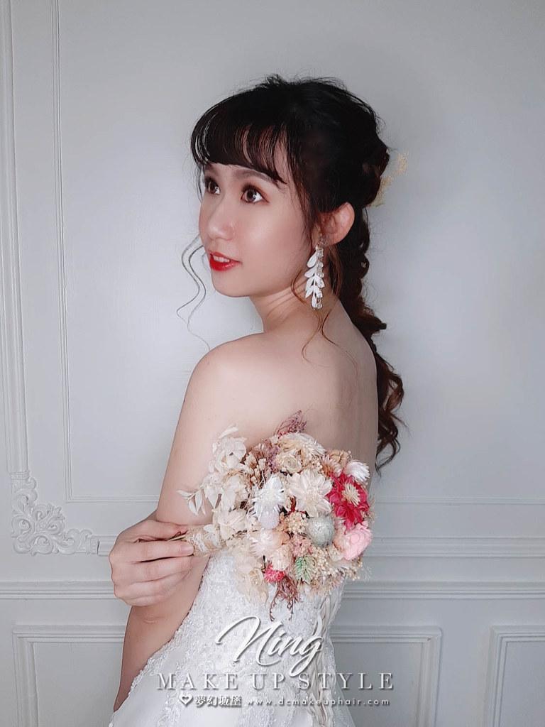 【新秘羽寧】新娘造型創作 / 甜美後編髮
