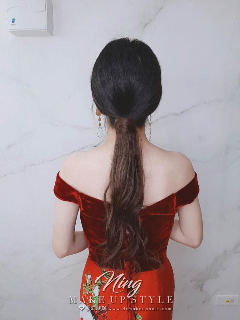【新秘羽寧】新娘造型創作 / 短髮-接長低馬尾