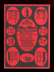 Dünner Katalog der Firma Max Metz (altpapiersammler) Tags: alt old vintage werbung werbegrafik werbezeichnung advertising artdesign ad katalog haushalt household reklame