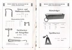 Dünner Katalog der Firma Max Metz, aus dem Inhalt 3 (altpapiersammler) Tags: alt old vintage werbung werbegrafik werbezeichnung advertising artdesign ad katalog haushalt household reklame