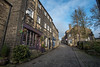 Up the Hill (sunsetbeach) Tags: uphill haworth main street holmes cobbles nikon 20mm 18g f18g