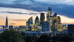 London City (JH Images.co.uk) Tags: london skyline city cityscape hdr dri shard gherkin clouds scalpel tower42 cityoflondon architecture night sunset yellow trees arealview lights illuminated buildings