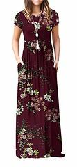 Viishow Women's Short Sleeve Loose Plain Maxi Dresses Casual Long Dresses with Pockets (Shopping Guide 7) Tags: casual dresses long loose maxi plain pockets short sleeve viishow with womens