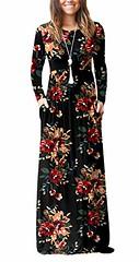 DEARCASE Women Long Sleeve Loose Plain Maxi Pockets Dresses Casual Long Dresses (Shopping Guide 7) Tags: casual dearcase dresses long loose maxi plain pockets sleeve women