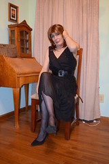 Deep in thought (ericaklein8) Tags: legs stockings pantyhose nylons heels shoes dresses gown formal hot sexy sit cute tv td ts tg trans tranny transgender tgirl