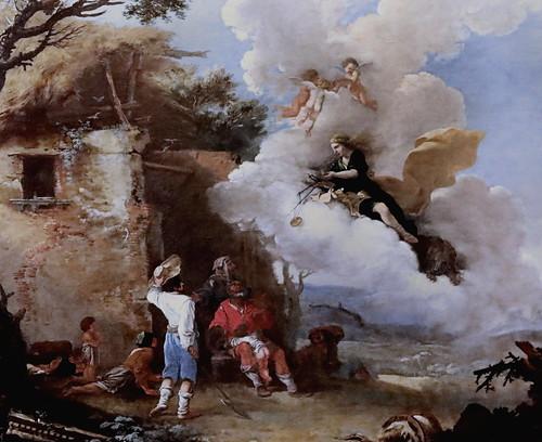 IMG_2482OBC Salvator Rosa 1615-1673  Naples Florence et Rome Le retour d'Astrée;  The return of Astraea  v 1640-1645 Vienne Kunsthistorisches Museum
