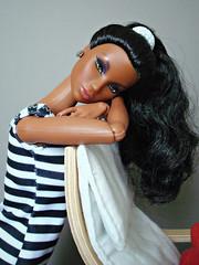 Morning Dove Kyori 😍 (Deejay Bafaroy) Tags: fashion royalty fr integrity toys doll puppe morningdove kyori itbe portrait porträt black schwarz white weiss stripes streifen striped gestreift