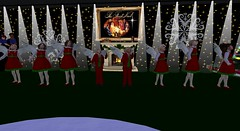 Choir December dates (see below) (cadeSL) Tags: sl secondlife second life virtual world rp role play choir kids boys girls sing singing song christmas xmas carols perform performance costume wings angels stage audience locations dates listen concert dance