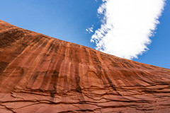 Sandstone and sky (mfeingol) Tags: fortymilegulch sky utah grandstaircaseescalantenationalmonument wall escalante grandstaircaseescalante sandstone