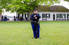 Reenactment On Parade Grounds (rschnaible) Tags: fort mackinac michigan island outdoor sightseeing reenactment uniform military soldier portrait people