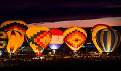 Night Magic Glow (Danny Shrode) Tags: abluquerque newmexico balloon fiesta night glow festival people