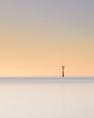 Ieniemienie minimal! (karindebruin) Tags: katja zonsondergang palen poles zondag westenschouwen baken beakon sunset orange yellow water strand beach sky zeeland schouwenduiveland