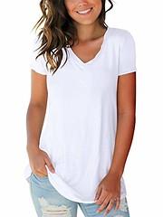 SAMPEEL Women's Basic V Neck Short Sleeve T Shirts Summer Casual Tops (Shopping Guide 7) Tags: basic casual neck sampeel shirts short sleeve summer tops womens