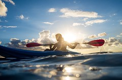 Ana, Tikehau, French Polynesia. August 2019 (Victor M. Perez) Tags: leicaxu candid streetphotography leica vacation tikehau tuamuotu frenchpolynesia backlit goldenhour atoll southpacific canoe paradise family daughter