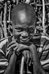 Karamojong Boy (Rod Waddington) Tags: africa african afrique afrika uganda ugandan karamoja karamojong tribe traditional tribal boy culture cultural child portrait people blackandwhite monochrome mono village