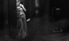 Shelter Me (Rachel Swallows) Tags: rain blackandwhite monochrome secondlife storm