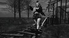 B&W (- Alia-) Tags: secondlife sl firestorm vuk mesh female avatar lady woman girl blackwhite bw snapshot photo photograph places people dark monotone anaposes grey light outside capture